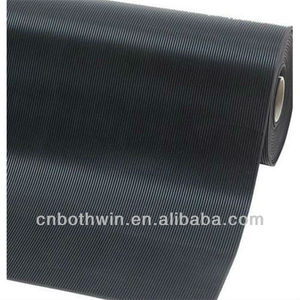 Green Fine ribbed rubber sheet / corrugated rubber mat / anti-slip rubber in China