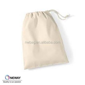 Custom Canvas Drawstring Bag Cotton White Canvas Travel Pouch ...