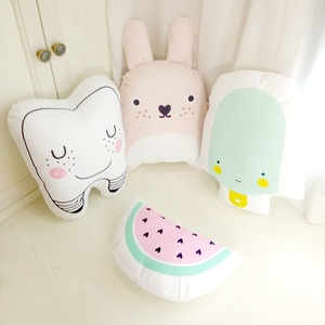 Lovely Cartoon Totoro Tooth Watermelon Cushion Pillow Bed Decoration Calm Sleep Dolls Plush Toys Gifts For Girls Children