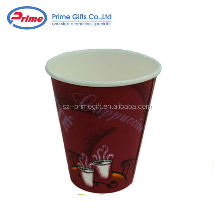 China Cheap Customized Size Disposable Paper Tea Cup