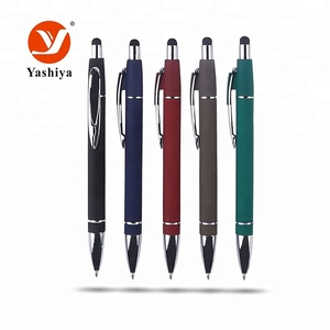 Slim touch screen stylus ball point pen metal aluminum promotional custom ball pen with logo
