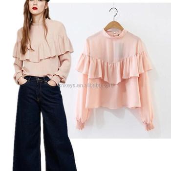 6d11985384d K1302a Wholesale 2017 New Fashion Women Casual Shirts Ladies Tops ...
