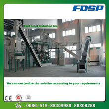 Agricultural waste groundnut shell rice husk pellet production line