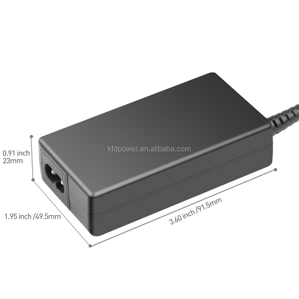 SLIM 45W universal power charger adapter with UL TUV GS CB CE FCC RoHS REACH