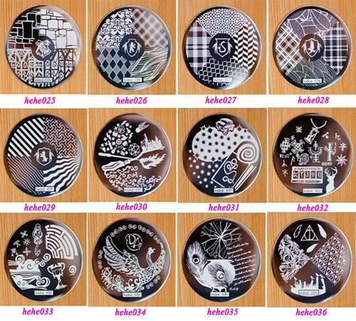 1PC HeHe Series 1 60 Design Plate Polish Stamping Manicure Image Nail Art Image Konad Print