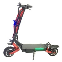 Dual Motor Fat Tire 5600W 60V Powered Max Speed 80km/h Electric Scooter for Adult