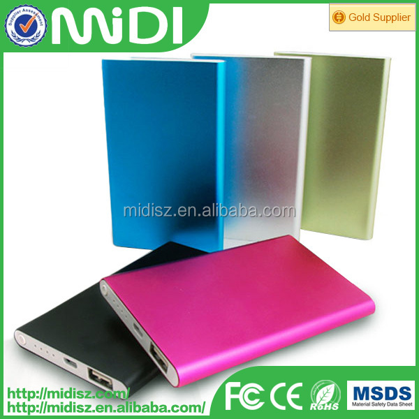 4000mah ultra slim portable New design Ultra slim power bank for digital camera polymer power bank