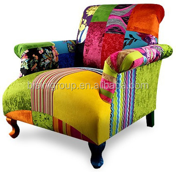 Modern Colorful Patchwork Single Sofa In Spanish Style For Living Room  BF11 02151f