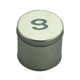 Round watch tin can for man, gift boxes with lids and sponge