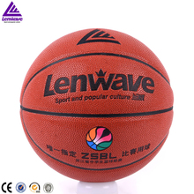 Lenwave brand college studends game custom logo pu leather basketball