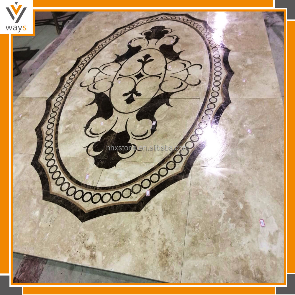 Marble Stone Water jet pattern for floor decaration hotel floor tile