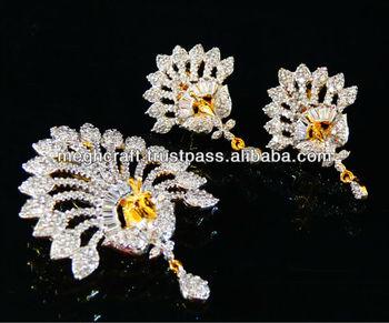 American diamond pendant set peacock pendant set peacock jewelry american diamond pendant set peacock pendant set peacock jewelry indian cubic zirconia jewelry aloadofball Image collections
