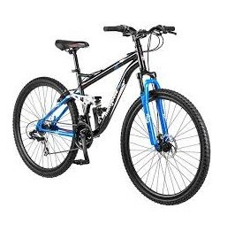 "29"" Mongoose Ledge 3.1 Men's Mountain Bike, Black/Blue"