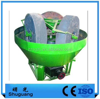 wholesale grinding pan machine small double wheel wet mill for rock gold
