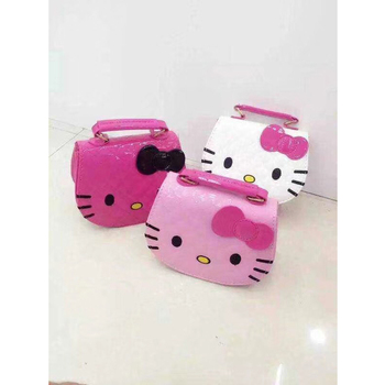 2018 Wholesale Children Cross Body Bags Cute Cat Face Girls Bag Mini  Shoulder Bag Ladies Hello b34ab20c6c879
