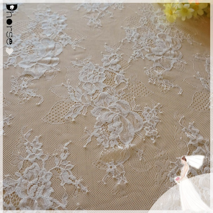 2018 High Quality Fashion lace french tulle lace fabric for bridal DHFL0635
