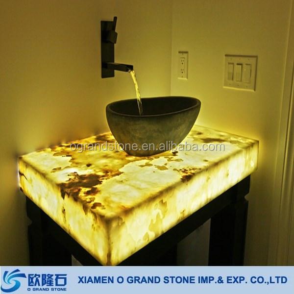 Backlit Onyx Panels For Home Depot Bathroom Vanity Tops