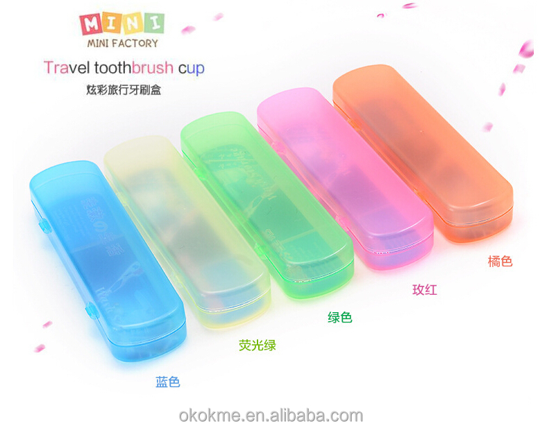 Traveling Portable Plastic Toothbrush Case