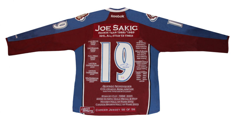 quality design 12f03 2f4a3 Joe Sakic Career Jersey - Autographed - Limited Edition - Colorado  Avalanche - Buy Nhl Hockey Memorabilia Athlete Sports Puck Hall Of Fame  Legend ...