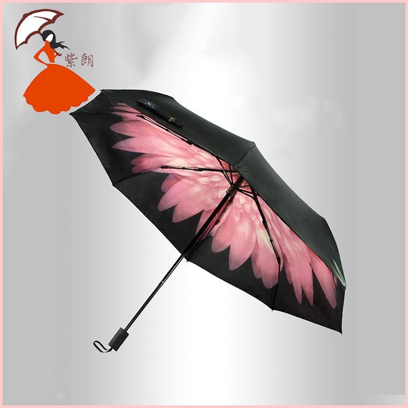 Принцесса банан черный цвет зонтик в любую погоду черный зонт углеродного волокна оптовая продажа особенности