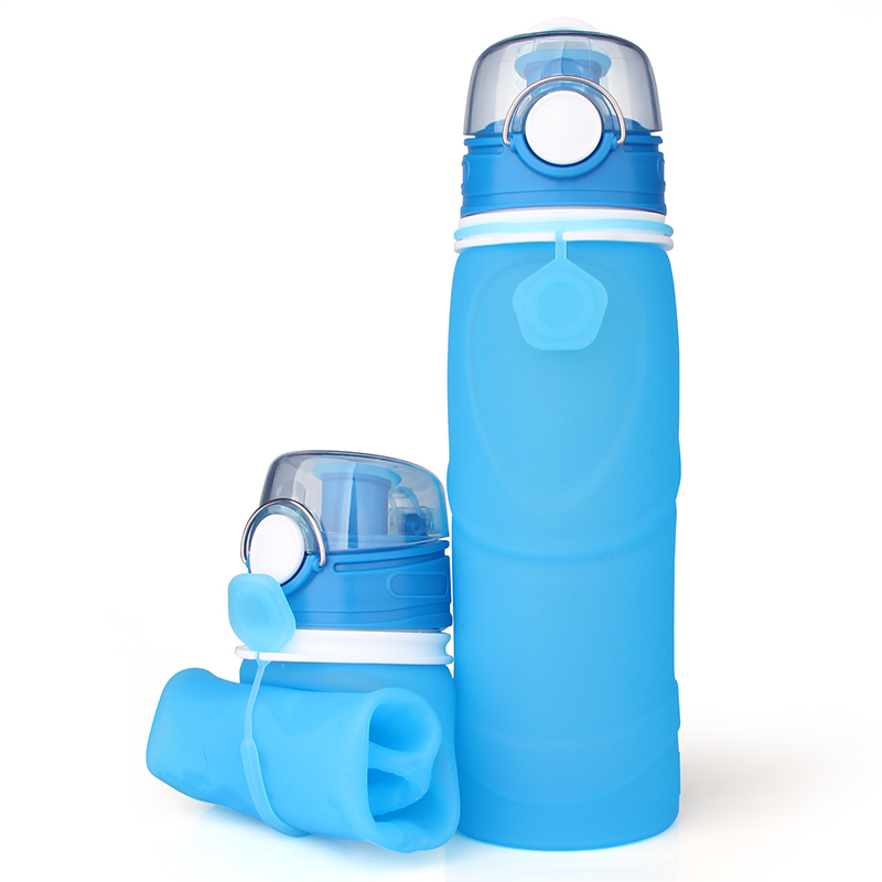 New Item Fast Shipping BPA Free Silicone Water Bottle With Light