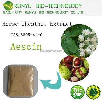 horse chestnut extract aescin,escin powder 20%-98% CAS No.6805-41-0