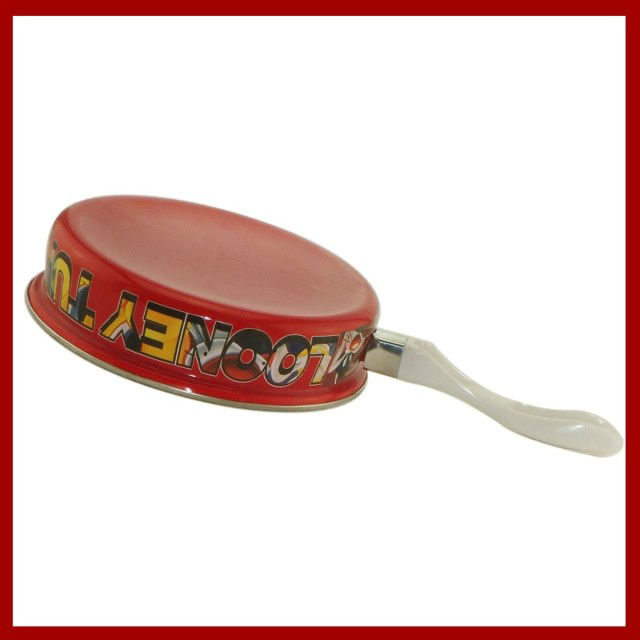 Cast iron enamel fly pan with bakelite handle and Fashion Chinese red