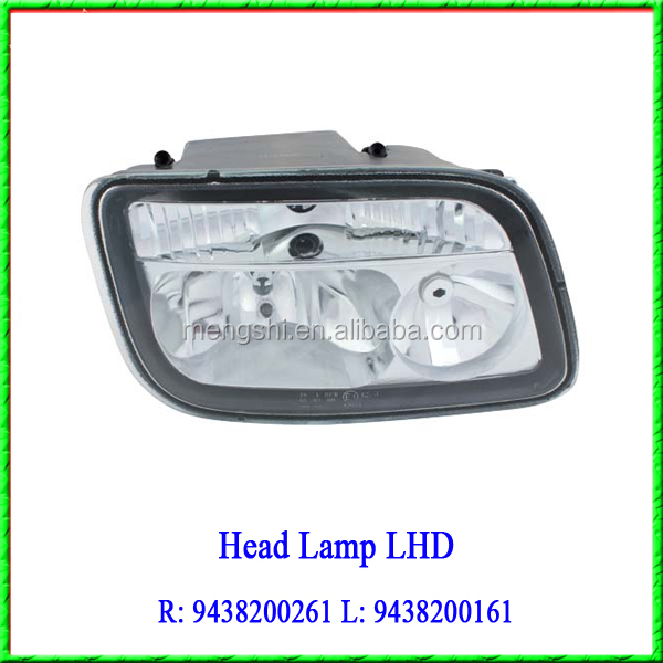 Actros Truck Used Tractor Head Lamp LHD 9438200261 9438200161