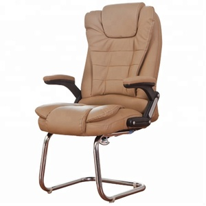 Air Conditioned Office Chair Swivel Office Chair no Wheels Conference Hall Chair Chromed Base Best Wholesale Websites