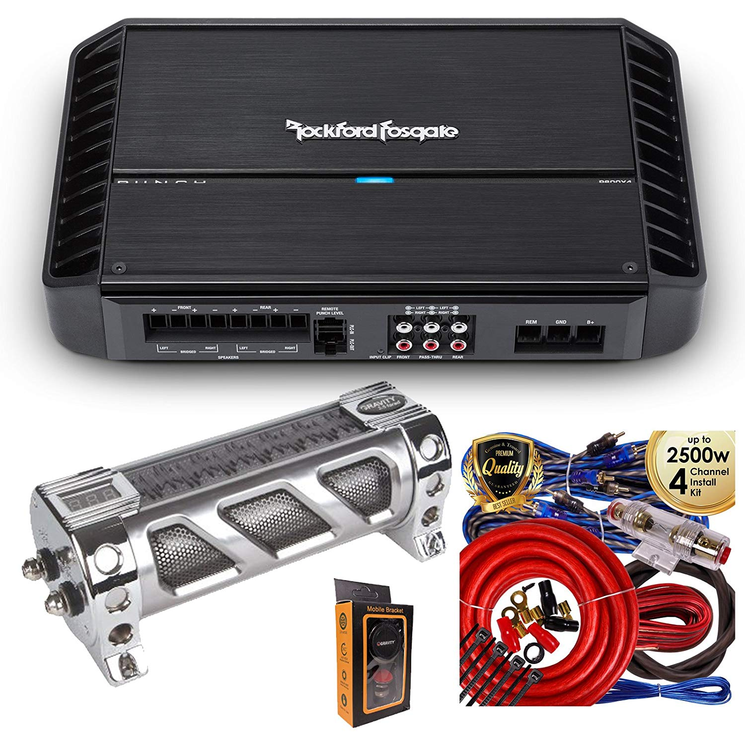 Cheap Fosgate 4 Channel Amp Find Deals On Amplifier Wiring Kit With Capacitor Get Quotations Rockford P600x4 600 Watts Punch Series Stereo Class Ab Car Power