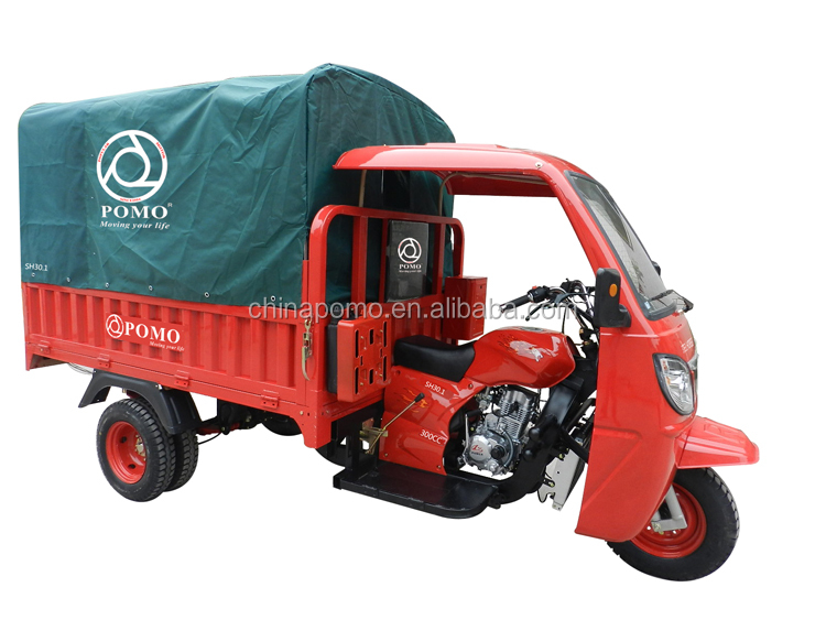 China Strong Heavy Load Water Cooled Cargo Motorized 300cc 5Wheel Motorcycle