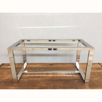 28 Inch Height Stainless Steel Modern Dining Long Table Base