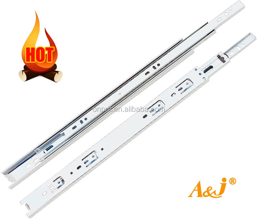 35mm round edge metal drawer runner telescopic channels