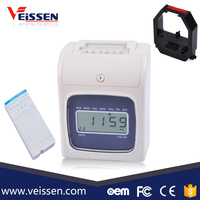 Hot sales heavy duty clock card electronic time attendance recorder