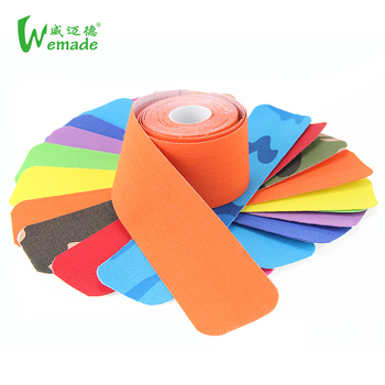 Factory Offer Logo Print precut  Kinesiology Tape Sport Tape
