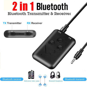 Universal 2 in 1 Wireless Bluetooth 4.2 Receiver Transmitter A2DP Audio 3.5MM AUX Stereo Adapter For TV PC Speaker