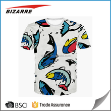 Top summer 3d animal face t-shirts sublimation