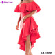Women fashion off shoulder red designer one piece cocktail party dress