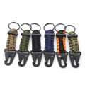 Outdoor Survival Carabiner Handmade Paracord Bracelets Rope Ring Lanyard Keychain 7 Strand Parachute Cord Clip Hook