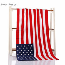 100% Cotton Materia lcustom usa national printing China factory price design your own beach towel