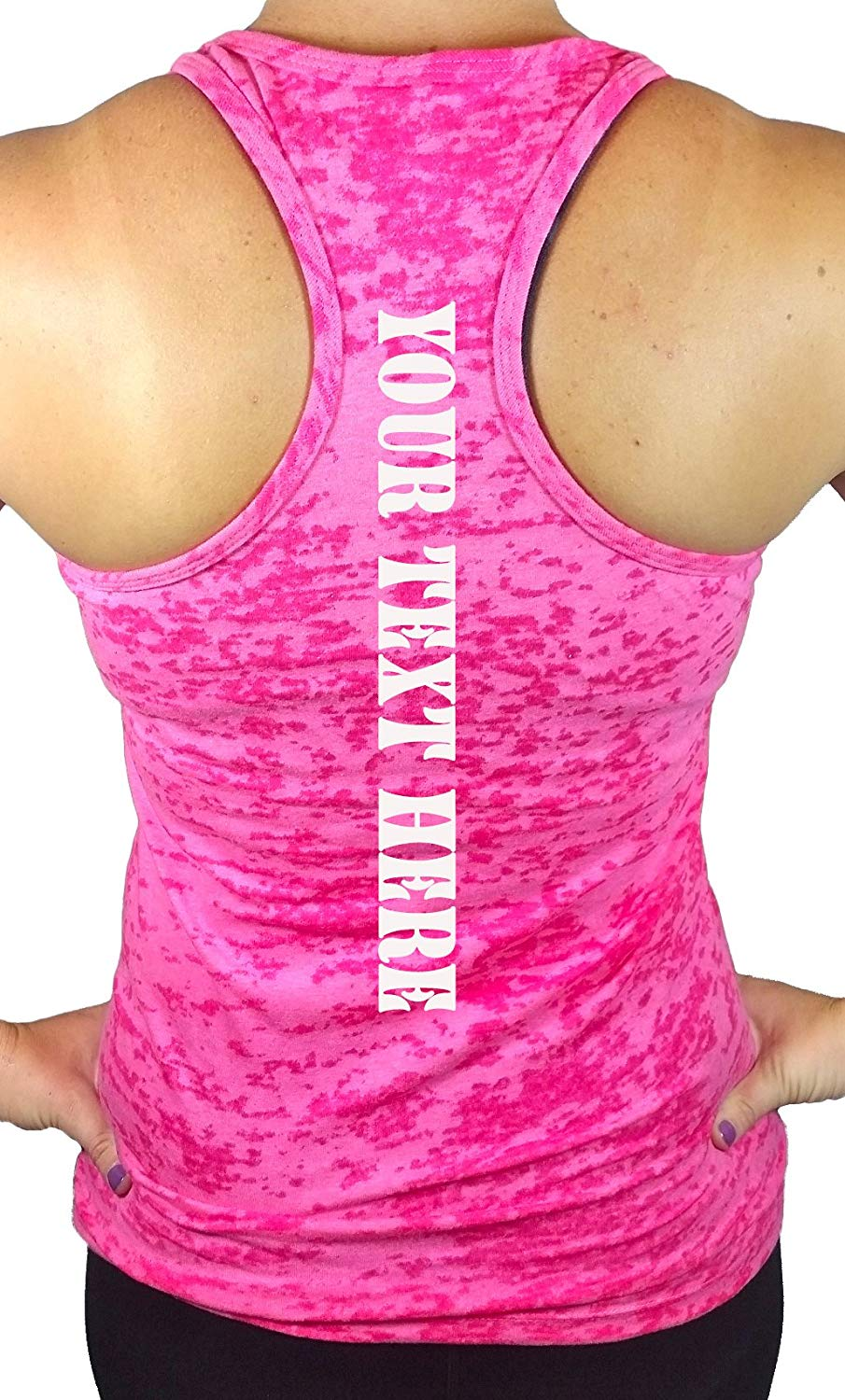 eb62c6e12 Get Quotations · Womens Custom Tank Top Workout Racerback Design & Personalize  Your own Tank top Shirt.