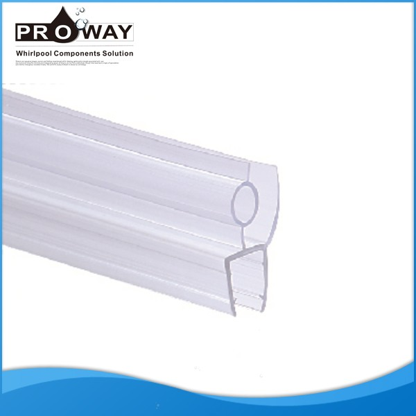 Hotel Used 6 10mm Shower Glass Rubber Seal Clear Plastic Shower Door