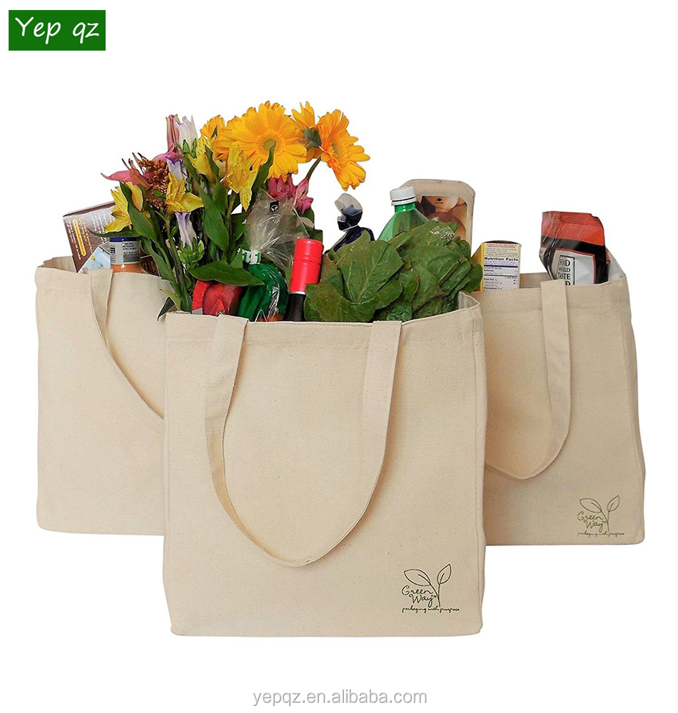Custom brand printed large cotton shopper tote bag vegetable reusable insulated canvas grocery bag