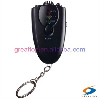 cheapest drive safety fit mini keychain led flashlight alcohol breath tester