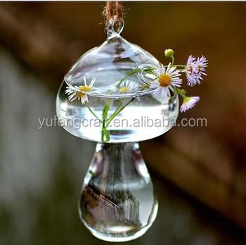 Wholesale Clear Glass Vases Hanging Glass Vase Mushroom Shaped Buy