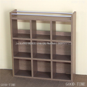 Oak wooden grain melmained MDF board Modern large simple cheap bookcase bookstore