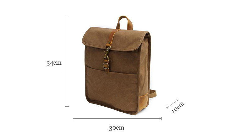 Cheap price new style trendy college laptop bags vintage unisex school student daypack canvas rucksack backpack