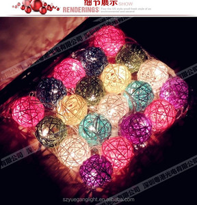 LED christmas ball cotton string light for party