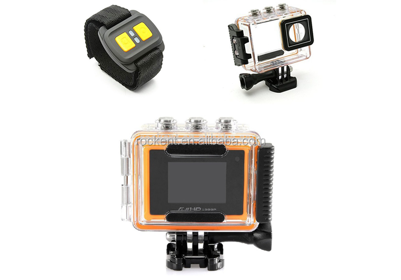 Hot sale !!! Waterproof WIFI Sport Camera with Wrist Remote Contraller