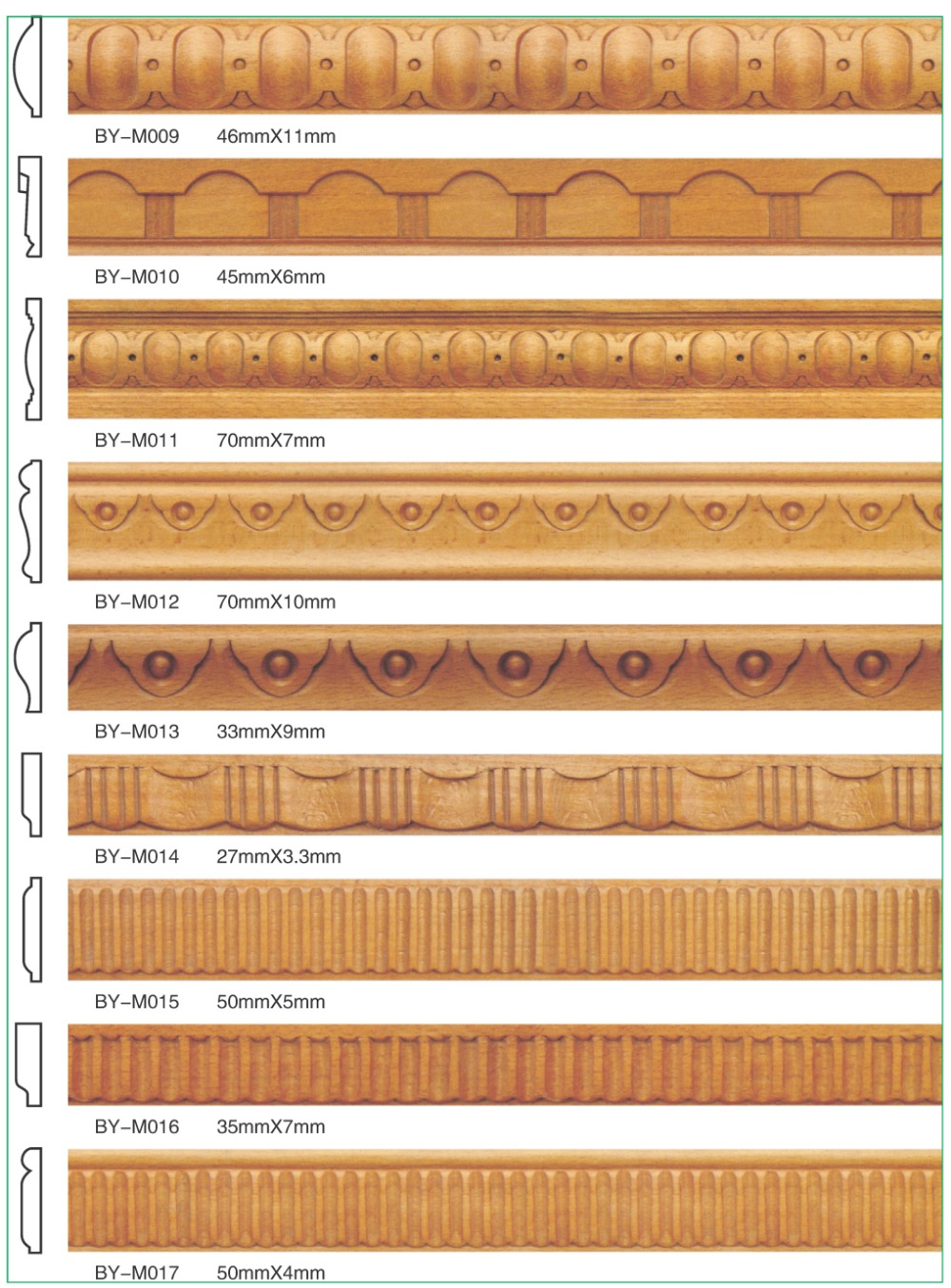Decorative Wood Trim Chinese Moulding